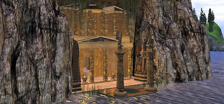 Mythos Themyscira (The City) - Benny Egyptian temple house