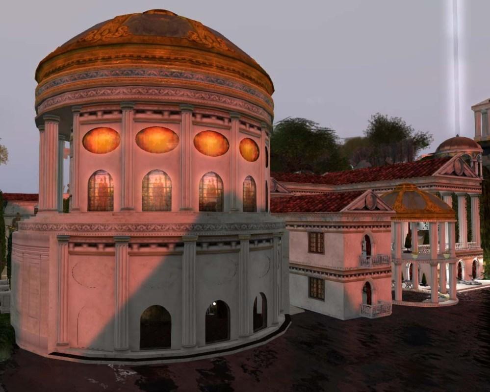 Mythos Themyscira (The City) - Temple of Sol Invictus and villa Secretum