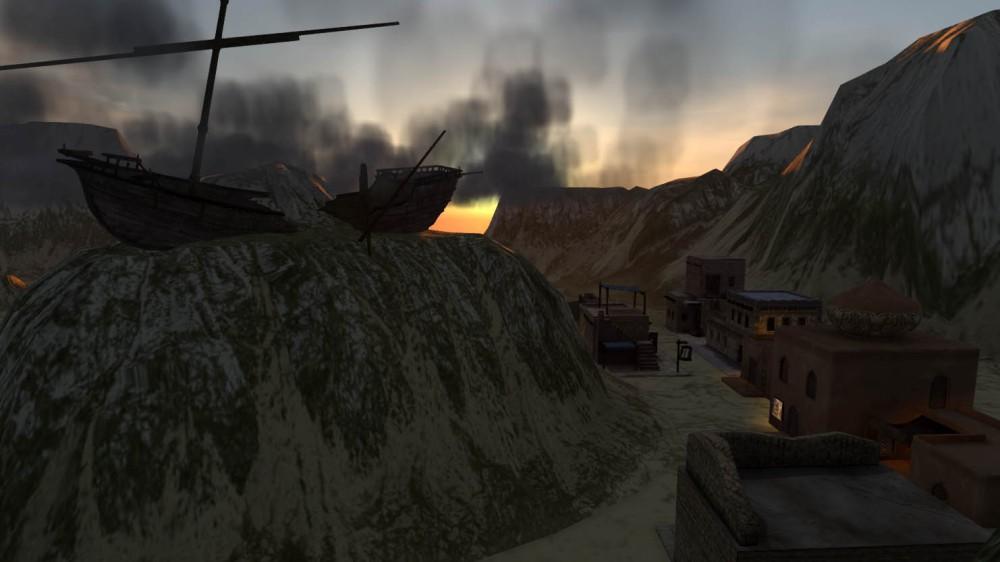 Mythos Wastelands - Wadi and wreck